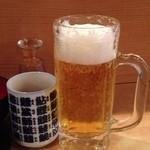 さかなの目玉 - 生ビール中ジョッキ 290円