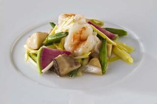 文菜華 - 天然車海老と柏野菜の炒め