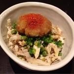 やきとり家すみれ - 鶏皮ポン酢390円
