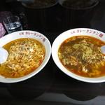 元祖カレータンタン麺 征虎 総本店 - (左)タンタン麺(右) カレータンタンメン