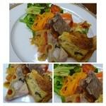 グルマン ド ニコラ - *プレートには「キッシュ」「パテ」「スモークサーモン」「お野菜」など。 スモークサーモンは美味しく頂きましたが、他は普通かな。