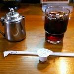 24134347 - 日替りランチの食後のアイスコーヒー