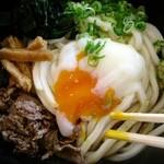 ちから 福屋広島駅前店 - 冷やし肉ぶっかけうどんミニ560円