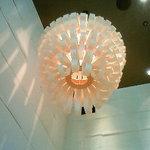 豆家茶寮 - 個室には和風のランプシェード