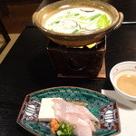 ふじ石亭 - 豆乳鍋でブリしゃぶ♪