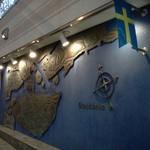 レストラン ストックホルム - なんともスウェーデンらしい外壁です
