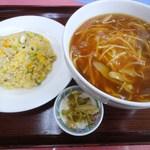 中華料理 煙臺閣 - B(半フカひれ麺+半炒飯)