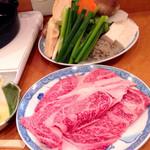 ちゃんこ雷光 - 山形牛すき焼き(\3,800)上質の山形牛を使った、和の職人が本気で作ったすき焼きです。