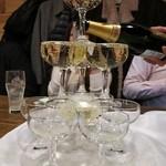 イタリアン&肉バル 北の国バル - シャンパンタワー