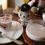 ふれぇずりぃあんくる - 苺のパンナコッタと苺ラテ