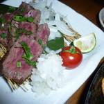 和食個室×とろろしゃぶしゃぶ にっぽん市 - 「和牛いちばミニステーキ (780円)」