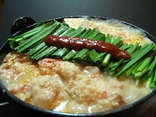 もつ鍋らく - 特製もつ鍋 俺流 (辛味噌味)