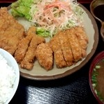 ぐしけんそば - とんかつ定食 ¥700