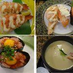 廻鮮寿司錦 - 同行者の食事の一部。廻鮮寿司 錦 新宮店(和歌山県)。2014年1月実食時の写真(食彩賓館撮影)