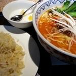 唐苑 - タンタン麺セット 2014.2