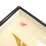 吉野本葛 天極堂 - 葛もち プレーンには桜の花と葉の塩漬けが。 '13 11月上旬