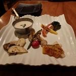 鉄板焼ビストロ よしむら - 焼き野菜のバーニャカウダ