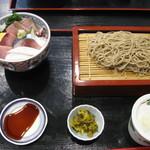 24155637 - 海鮮丼+もりそばのランチセット980円