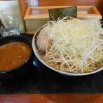 渡辺製麺 - つけ麺太麺中300g¥800②番ベジポタMIXネギ・味玉トッピング
