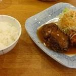 24159365 - ハンバーグと若鶏の香り揚げさっぱりおろしぽん酢!