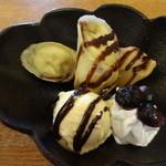 24159385 - デザート(チョコバナナぼ春巻、バニラ添え)