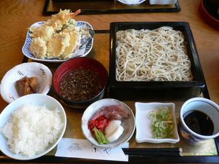 手打ちそば ふじや - 天ぷら御膳 1,250円