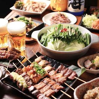 料理全7品、飲み放題2時間、【3500円】