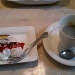 エコマンナ - (20140209) Aランチのデザート&コーヒー
