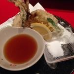 まるふく - アジの天ぷら