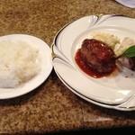 神戸パリ食堂 - ランチA:魚料理と肉料理(スープ、パンまたはライス付き)600円!