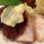 神戸パリ食堂 - 牡蠣フライとブリのロティ◎
