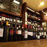 バルコ札幌 - 約100種のワインは全てグラス飲み可。