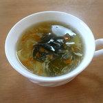 ホワイトプレーン - スープ