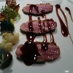 24170978 - 滝川鴨胸肉のロースト 季節の野菜添え