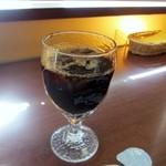 Mollete Grill - 最後の飲み物は汗をかきながら食事をしたので冷たいアイスコーヒーを選んでみました。