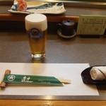 直すし - 生ビール♪