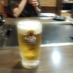 道とん堀 - 生ビールは、一番搾り