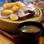 生け簀の銀次 - 静岡産鬼オコゼのふわほろ天ぷら定食