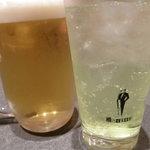 2418790 - ビールとライムチューハイ
