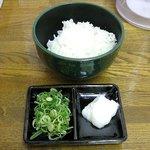 菜麺 - ラードご飯(小)