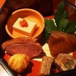 いせもん本店 - 三段弁当ランチ(神路山弁当) 二の段(焼八寸)