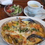 Kitao - 海の幸と旬の野菜のパスタグラタン(サラダスープ付)920円