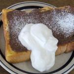 ワイズマフィン - ワイズマフィンのフレンチトースト550円★チョコクリームが美味しい♪