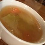 カフェドペリーヌ - 日替わりセットの付け合わせの野菜スープ