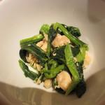 24182983 - 小松菜と鶏肉の和え物