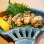 市松寿司 - ミル貝の肝の焼物