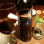 24187080 - グラスワイン赤。イタリアのTerre Avare