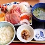 おがわ - 201402 しみずみなと刺身定食(2500円)