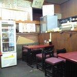 松林堂 - テーブルが4つだけの店内