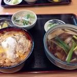 招き庵 - 料理写真:鴨南ばんミニかつ丼セット